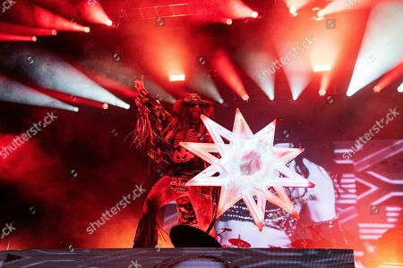 Rob Zombie performs during Louder Than Life at Highland Festival Grounds at Kentucky Exposition Center Center, in Louisville, Ky