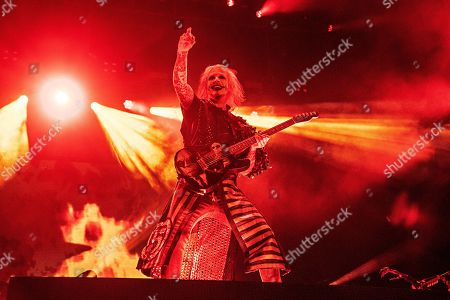 Stock Photo of John 5 performs with Rob Zombie during Louder Than Life at Highland Festival Grounds at Kentucky Exposition Center Center, in Louisville, Ky