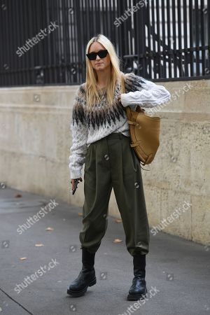 Editorial photo of Street Style, Spring Summer 2020, Paris Fashion Week, France - 28 Sep 2019