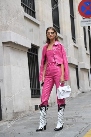 Editorial image of Street Style, Spring Summer 2020, Paris Fashion Week, France - 28 Sep 2019