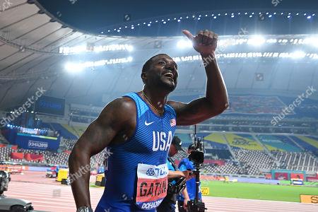 Justin Gatlin (USA) - Athletics : IAAF World Championships Doha 2019 Men's 100m Final at Khalifa International Stadium