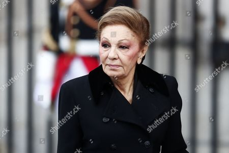 Widow of the Shah, former empress of Persia, Farah Diba Pahlavi, attends a memorial service for former French President Jacques Chirac at the Church of Saint-Sulpice in Paris, France, 30 September 2019. Jacques Chirac died on 26 September in Paris, aged 86. 30 September 2019 has been declared a day of national mourning.