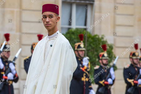 Moulay Hassan, Crown Prince of Morocco arrives at a lunch for the visiting leaders and heads of state, following a memorial for former French President Jacques Chirac, at the Elysee Palace in Paris, France, 30 September 2019. Jacques Chirac died on 26 September in Paris, aged 86. 30 September 2019 has been declared a day of national mourning.