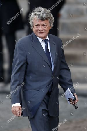 French former Environment minister Jean-Louis Borloo attends a memorial service for former French President Jacques Chirac at the Church of Saint-Sulpice in Paris, France, 30 September 2019. Jacques Chirac died on 26 September in Paris, aged 86. 30 September 2019 has been declared a day of national mourning.