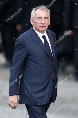 Stock Photo of Pau mayor Francois Bayrou attends a memorial service for French former President Jacques Chirac, at the Church of Saint-Sulpice in Paris, France, 30 September 2019. Jacques Chirac died on 26 September in Paris, aged 86. The 30th September 2019 has been declared a day of national mourning in France.