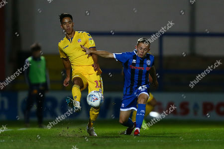 Stock Photo of Adam Chicksen of Bolton and Rochdale's Lewis Bradley