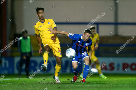 Adam Chicksen of Bolton and Rochdale's Lewis Bradley