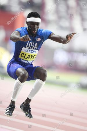 Will Claye of USA competes in the Men's Triple Jump final