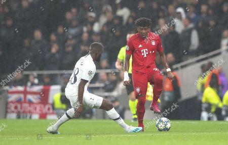 David Alaba of Bayern Munich and Tanguy Ndombele of Tottenham Hotspur