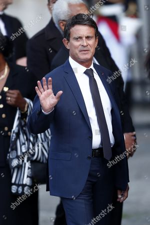 French former Prime Minister Manuel Valls attends a memorial service for French former President Jacques Chirac at the Church of Saint-Sulpice in Paris, France, 30 September 2019. Jacques Chirac died on 26 September in Paris, aged 86. 30 September 2019 has been declared a day of national mourning.