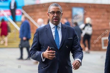 MP James Cleverly on the second day of the Conservative Party Conference at Manchester Central