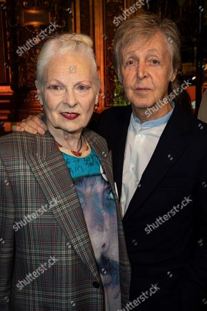 Vivienne Westwood, Paul McCartney. Designer Vivienne Westwood, left, and musician Paul McCartney attend the Stella McCartney Ready To Wear Spring-Summer 2020 collection, unveiled during the fashion week, in Paris