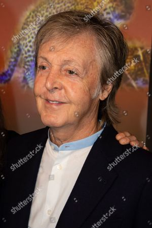 Stock Image of Paul McCartney attends the Stella McCartney Ready To Wear Spring-Summer 2020 collection, unveiled during the fashion week, in Paris