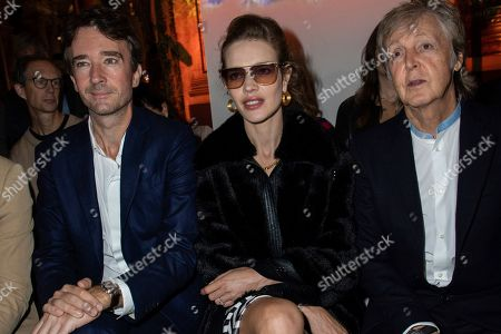 Paul McCartney, Nancy Shevell. Musician Paul McCartney, right, and his wife Nancy Shevell attend the Stella McCartney Ready To Wear Spring-Summer 2020 collection, unveiled during the fashion week, in Paris