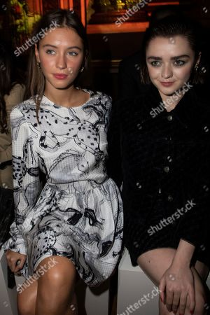 Iris Law, Maisie Williams. Iris Law and Maisie Williams attend the Stella McCartney Ready To Wear Spring-Summer 2020 collection, unveiled during the fashion week, in Paris