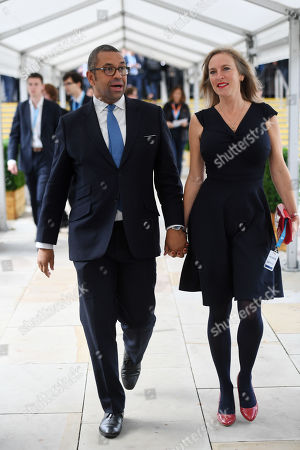 James Cleverly, Conservative Party Chairman, and Susannah Janet Temple Sparks.