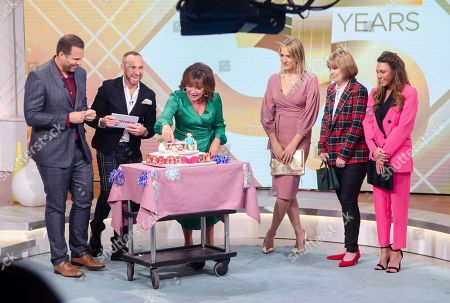 Dan Wooton, Lorraine Kelly, Mark Heyes, Hannah Winterbourne, Karen Symons and Michelle Heaton