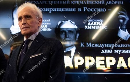 Editorial picture of Spanish tenor Jose Carreras holds press conference in Moscow, Russian Federation - 30 Sep 2019