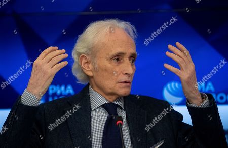 Editorial photo of Spanish tenor Jose Carreras holds press conference in Moscow, Russian Federation - 30 Sep 2019