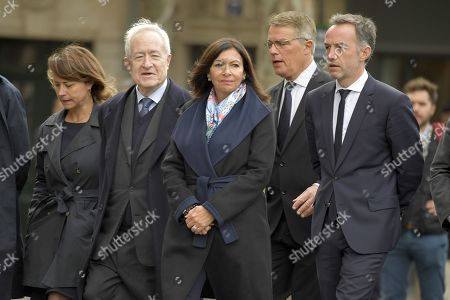 Paris Mayor Anne Hidalgo and Former Paris Mayor, Jean Tiberi