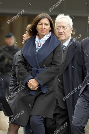 Stock Image of Paris Mayor Anne Hidalgo and Former Paris Mayor, Jean Tiberi