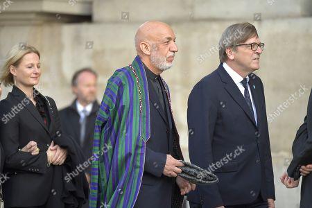 Former Afghan Hamid Karzai and Guy Verhofstadt