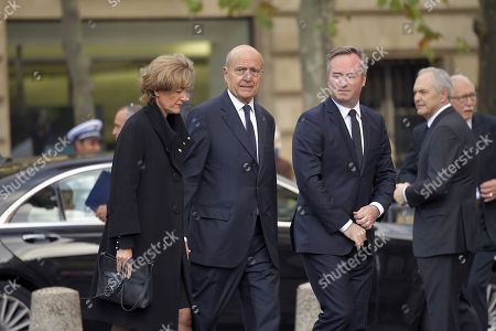 Stock Image of Alain Juppe and wife Isabelle
