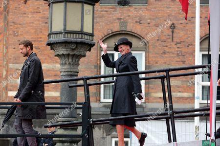 Queen Margrethe II during the opening of the M3 Cityringen metro line in Copenhagen.