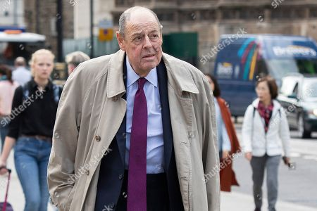 MP for Mid Sussex Sir Nicholas Soames arrives at Parliament