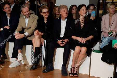 Antoine Arnault, Alasdhair Willis, Natalia Vodianova, Sir Paul McCartney and Nancy Shevell in the front row