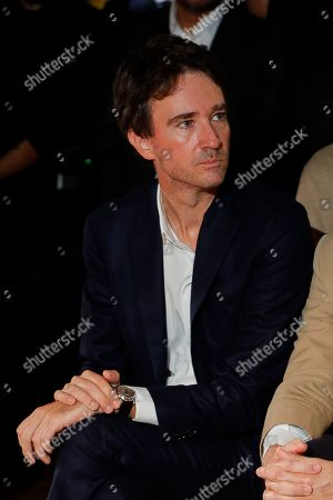 Antoine Arnault in the front row