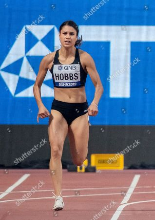 Women's 200m Heats. New Zealand's Zoe Hobbs