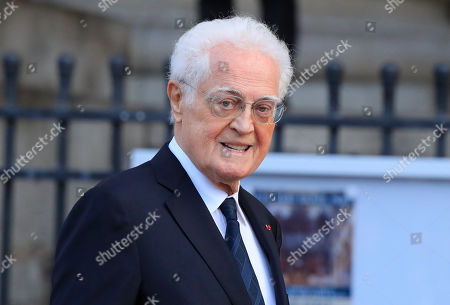Stock Picture of Former French Prime Minister Lionel Jospin arrives at Saint Sulpice church in Paris, . Past and current heads of states are gathering in Paris to pay tribute to former French president Jacques Chirac. A private family church service for Chirac, who died last week at the age of 86, is taking place Monday
