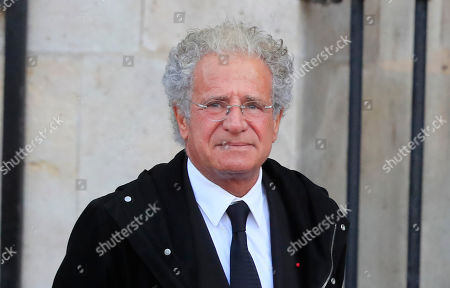 Deputy General director of Dassault Aviation Laurent Dassault arrives at Saint Sulpice church in Paris, . Past and current heads of states are gathering in Paris to pay tribute to former French president Jacques Chirac. A private family church service for Chirac, who died last week at the age of 86, is taking place Monday