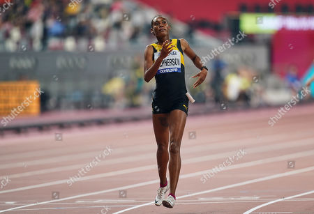 Stephenie Ann Mcpherson of Jamaica competing in the 400 meter for women during the 17th IAAF World Athletics Championships at the Khalifa Stadium in Doha, Qatar