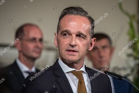 German Foreign Minister Heiko Maas delivers a speech during the ceremony marking the 30th anniversary of East Germans' exodus into West German embassy at German embassy in Prague, Czech Republic, 30 September 2019. In September 1989, over 4,000 GDR citizens, many of them arrived in their Trabant-brand cars, climbed over the fence into the gardens of the West German Embassy in Prague where on 30 September 1989 West German Foreign Minister Hans-Dietrich Genscher addressed them his legendary speech from the embassy's balcony in which he informed them their departure to West Germany was granted.