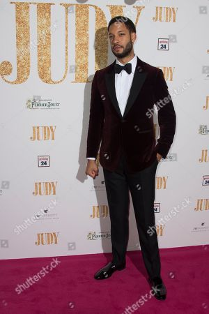 Royce Pierreson poses for photographers upon arrival at the premiere of the film 'Judy' in central London