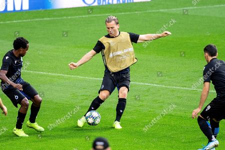 Club Brugge's midfielder Ruud Vormer attends a training session at Santiago Bernabeu stadium in Madrid, Spain, 30 September 2019. Club Brugge will face Real Madrid in a UEFA Champions League group stage soccer match on 01 October.
