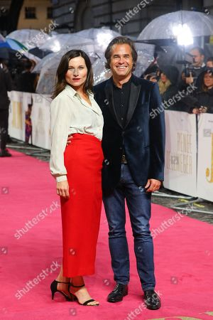 Rupert Goold (R) and his wife, British actress Kate Fleetwood (L) pose on the red carpet at the European Premiere of 'Judy' in London, Britain, 30 September 2019. The movie will be released in British theaters on 02 October 2019.