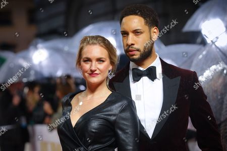 Royce Pierreson (R) and Natalie Herron (L) pose on the red carpet at the European Premiere of 'Judy' in London, Britain, 30 September 2019. The movie will be released in British theaters on 02 October 2019.