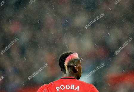 Manchester United's Paul Pogba during the English Premier League soccer match between Manchester United and Arsenal London in Manchester, Britain, 30 September 2019.