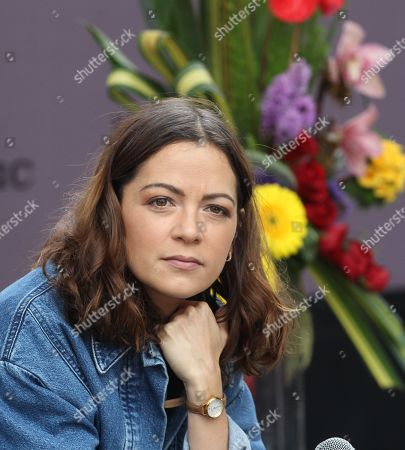 Natalia Lafourcade offers a press meeting in Mexico City, Mexico, 30 September 2019.