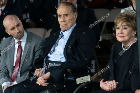 Former Senators Bob Dole and Elizabeth Dole in honor of the Twentieth Chairman of the Joint Chiefs of Staff Mark Milley at Joint Base Myer