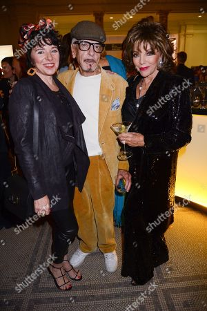 Stock Photo of Tara Newley, Nicky Haslam and Joan Collins