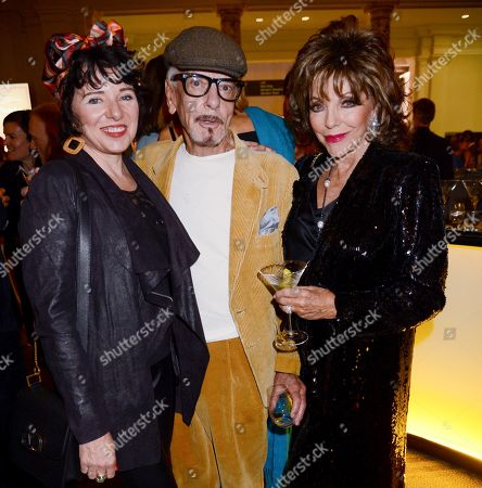 Stock Image of Tara Newley, Nicky Haslam and Joan Collins