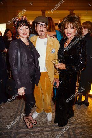 Tara Newley, Nicky Haslam and Joan Collins