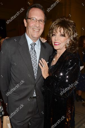Percy Gibson and Joan Collins