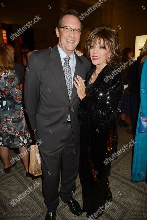 Stock Photo of Percy Gibson and Joan Collins