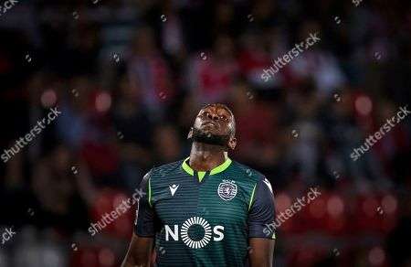 Sporting CP's Yannick Bolasie reacts during their Portuguese First League soccer match against Desportivo das Aves held at Clube Desportivo das Aves Stadium, in Vila das Aves, Portugal, 30 September 2019.