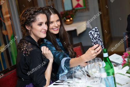 Stock Photo of Rosanna Falconer and Sarah Ann Macklin take a selfie